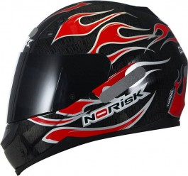 CAPACETE NORISK  FF 391 FIRE RED TAMANHO 58