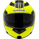 CAPACETE NORISK MIDNIGHT GLOSS YELLOW BLACK FF 370 ESCAMOTEAVEL TAMANHO 60
